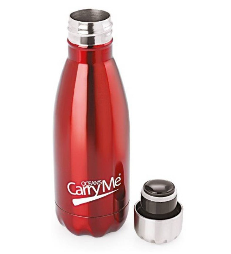 CarryMe Aqua Red Stainless Steel 350 ML Hot & Cold Bottle