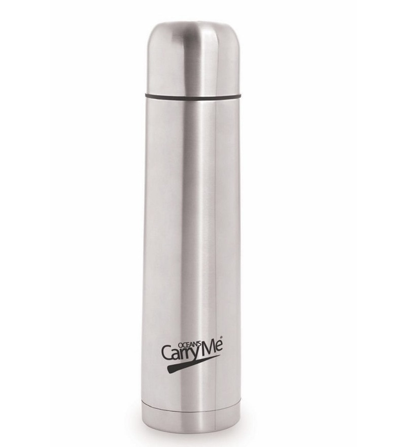 CarryMe Bullet Hot & Cold Silver Stainless Steel 1 L Vacuum Flask