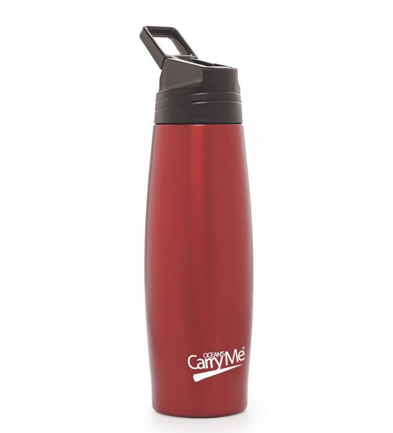 CarryMe Thunder Hot & Cold Red Stainless Steel 500 ML Vacuum Flask