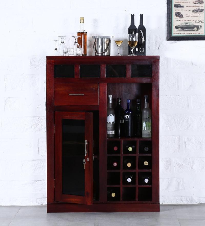 Rosendale Bar Cabinet in Honey Oak Finish by Woodsworth