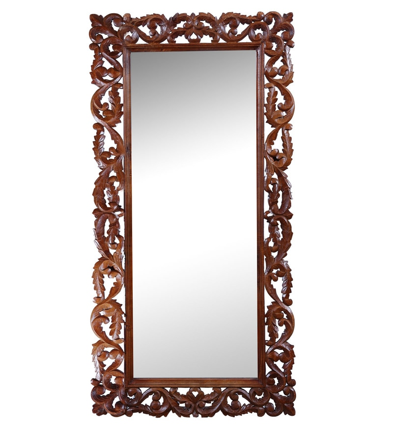 Carved Honey Mirror by Hanumant