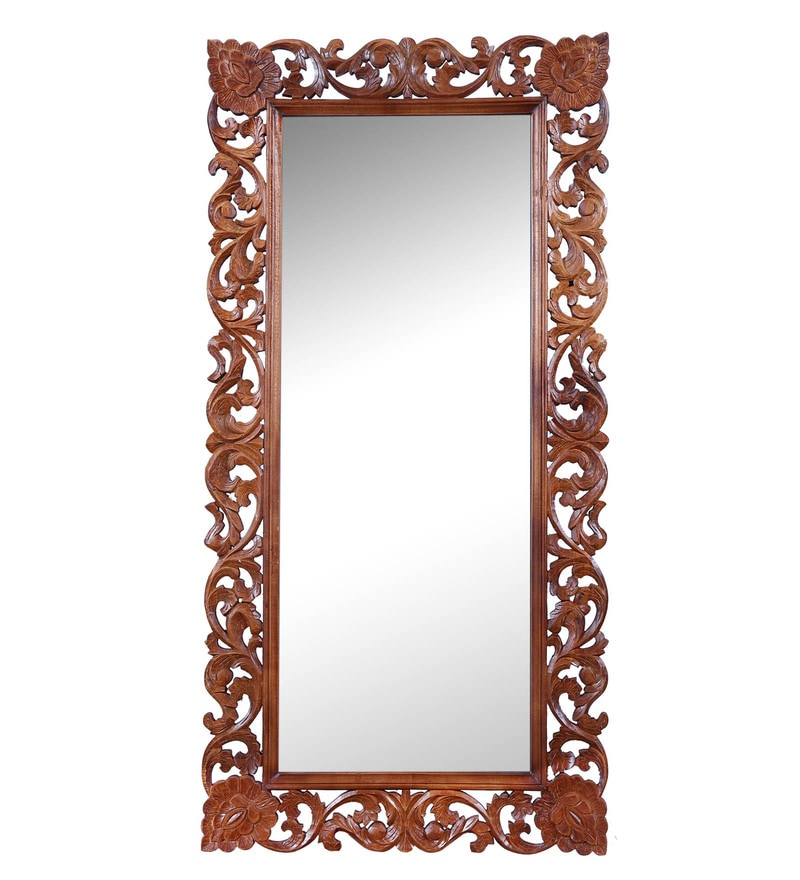 Carved Honey Mirror by Hanumant