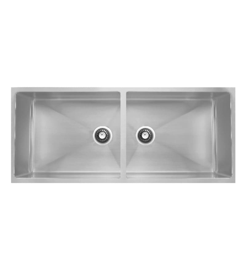 Carysil Quadro Stainless Steel Double Bowl Kitchen Sink (Model No: Qdb36188)