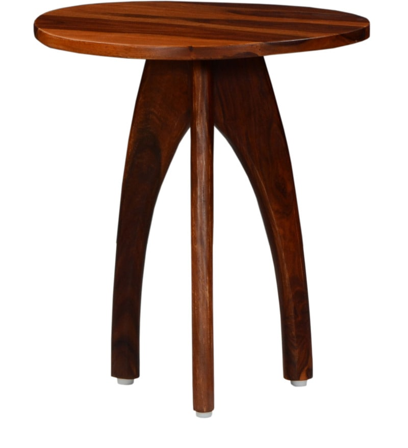 Buy Arbor End Table In Honey Oak Finish By Woodsworth Online   Contemporary End  Tables   End Tables   Pepperfry