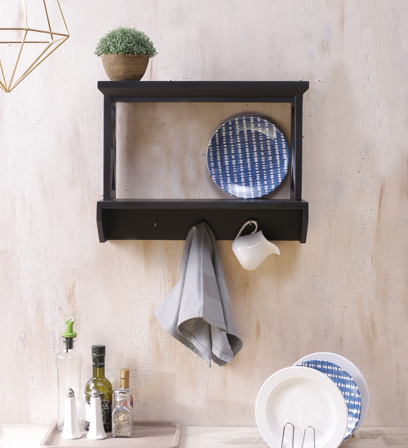 Gimigniano Wall Shelf In Black by AYMH