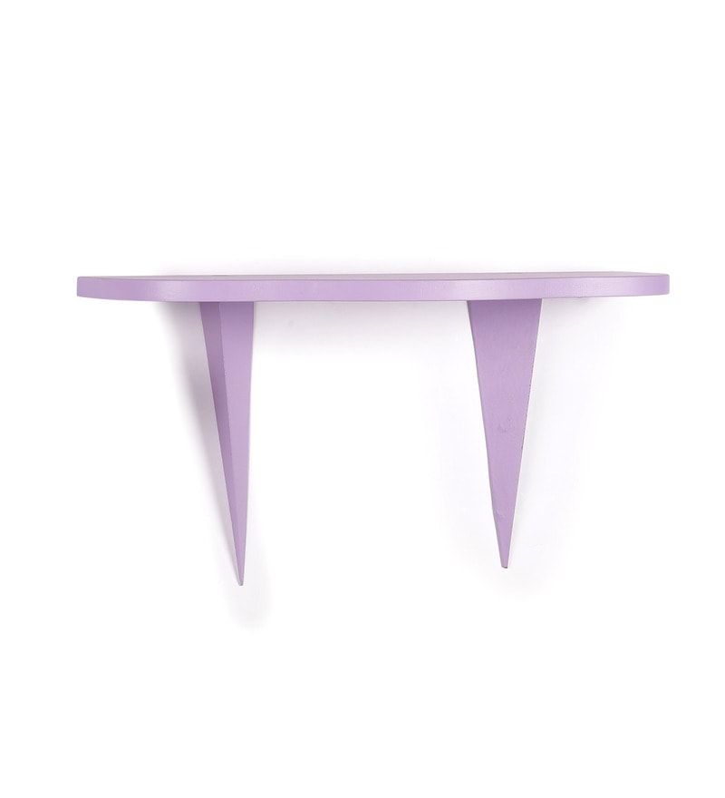 Purple MDF Wall Shelf by Home Sparkle