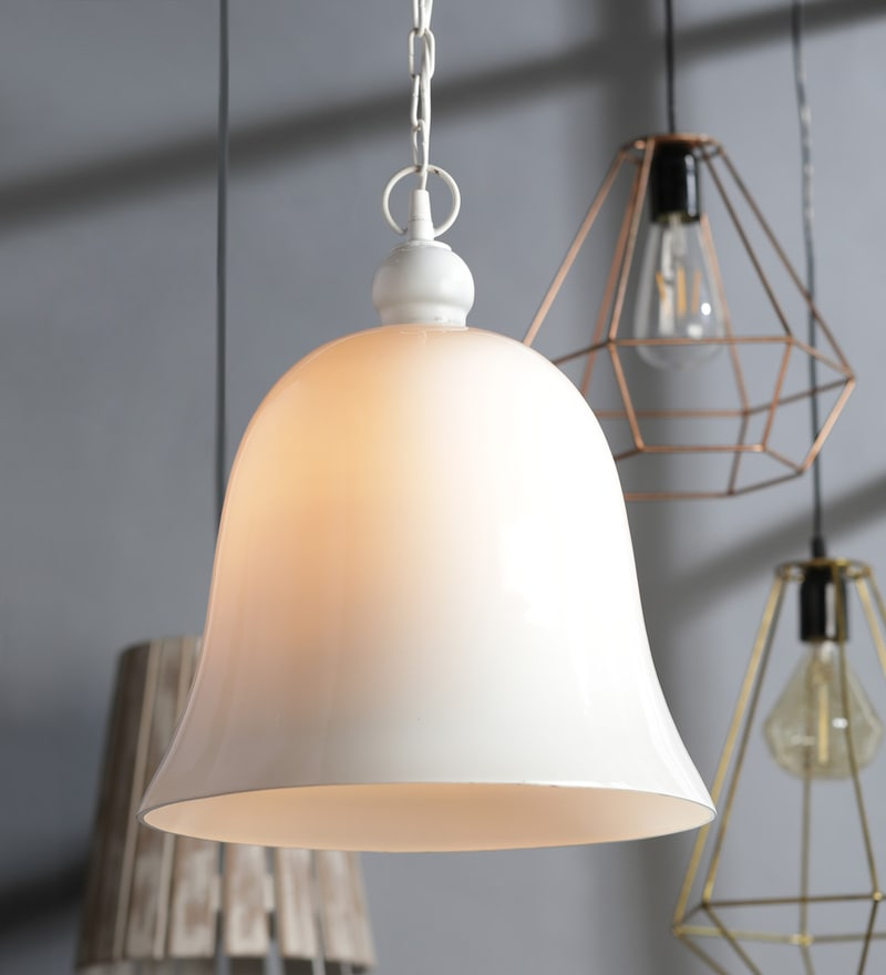 Paulo Pendant in White by Casacraft