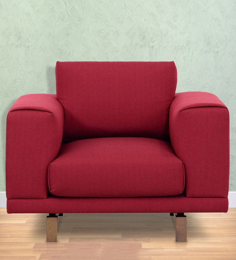 Catalunya One Seater Sofa in Carmine Colour by Casacraft