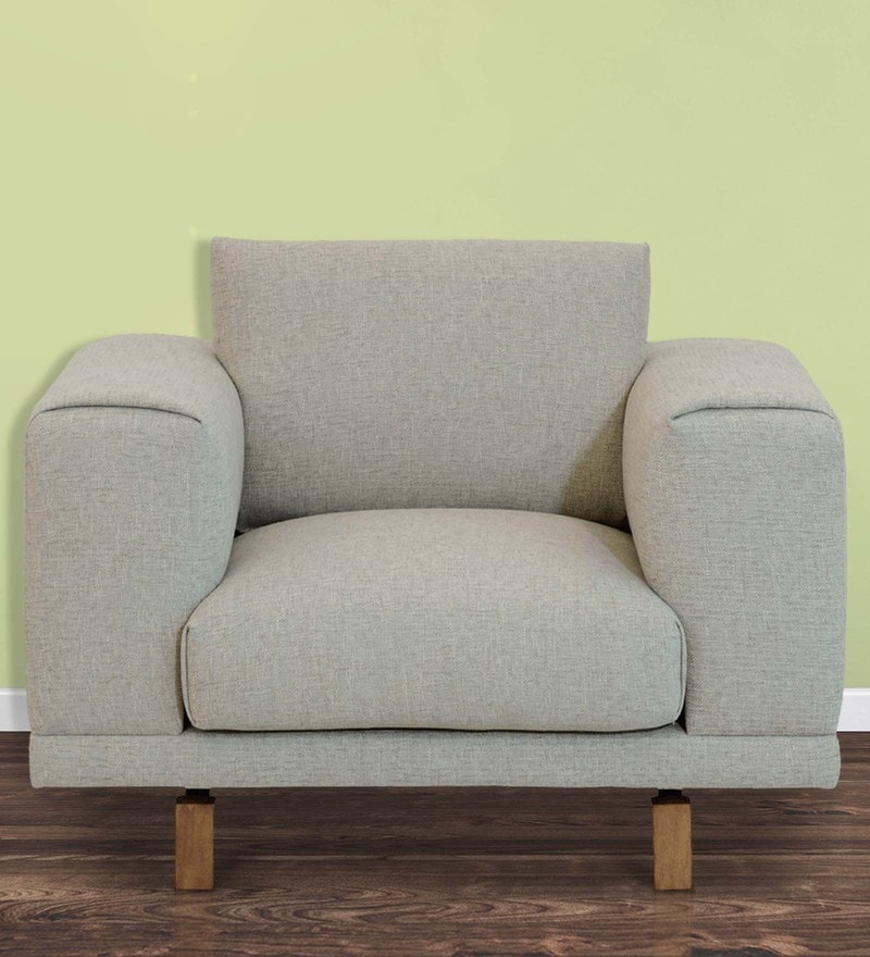 Catalunya One Seater Sofa In Pale Earl Grey By CasaCraft