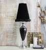 Royal Black Ceramic Table Lamp by Calmistry