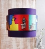 Calmistry Bunch Violet Retro Satin Hanging Shade
