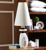 White Satin Table Lamp by Calmistry