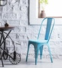 Ekati Metal Chair in Sky Blue Color by Bohemiana