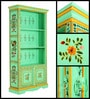 Vanya Hand Painted Book Shelf Cum Display Unit by Mudramark
