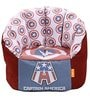 Captain America XXXL Kids Bean Bag with Beans in Multicolour by Orka(With Small - cushion Inside)