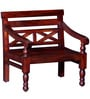 Carnegie Small Bench in Honey Oak Finish by Amberville