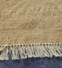 Carpet Overseas Beige & Rust Wool 68 x 52 Inch Modern Design Flatweave Area Rug