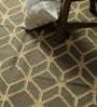 Beige Jute 73 x 48 Inch Lattice Design Flatweave Area Rug by Carpet Overseas