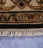 Carpet Overseas Black & Ivory Wool 62 x 62 Inch Persian Design Hand Knotted Area Rug