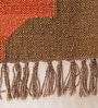 Brown & Orange Jute 61 x 37 Inch Area Rug by Carpet Overseas