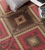 Brown & Red Jute 73 x 50 Inch Area Rug by Carpet Overseas