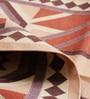 Carpet Overseas Brown & Rust Cotton 48 x 30 Inch Kilim Design Flatweave Area Rug
