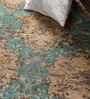Camel & Turquoise Wool 60 x 36 Inch Abstract Area Rug by Carpet Overseas