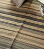 Cream & Blue Jute 72 x 48 Inch Area Rug by Carpet Overseas