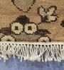 Cream Wool 59 x 38 Inch Kilim Design Hand Knotted Area Rug by Carpet Overseas