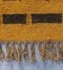 Gold & Black Jute 72 x 50 Inch Modern Design Flatweave Area Rug by Carpet Overseas