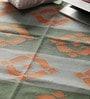 Carpet Overseas Green & Blue Cotton 60 x 38 Inch Area Rug