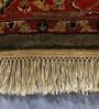 Carpet Overseas Green & Rust Wool 74 x 48 Inch Shiraj Design Hand Knotted Area Rug