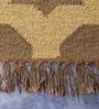 Grey & Ivory Jute 60 x 36 Inch Lattice Design Flatweave Area Rug by Carpet Overseas