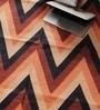 Orange & Black Cotton 60 x 36 Inch Lattice Design Flatweave Area Rug by Carpet Overseas