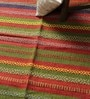 Red & Green Wool 70 x 45 Inch Traditional Design Flatweave Area Rug by Carpet Overseas