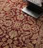 Red Wool 74 x 47 Inch Persian Design Hand Knotted Area Rug by Carpet Overseas