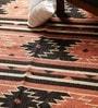 Carpet Overseas Rust & Black Jute 96 x 60 Inch Kilim Design Flatweave Area Rug