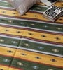 Yellow & Green Cotton 73 x 48 Inch Area Rug by Carpet Overseas