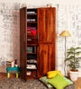 Edmonds Wardrobe with Two Drawers in Provincial Teak Finish by Woodsworth