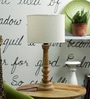 La Paz Table Lamp In White by Amberville