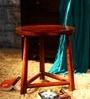 Mindoro Round Stool in Honey Oak Finish by Woodsworth