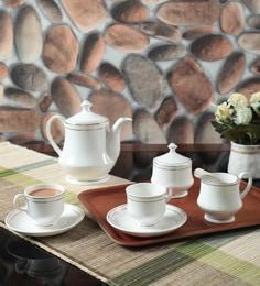 CDI Bone China Tea Set, 150 ML, Set of 15 ...