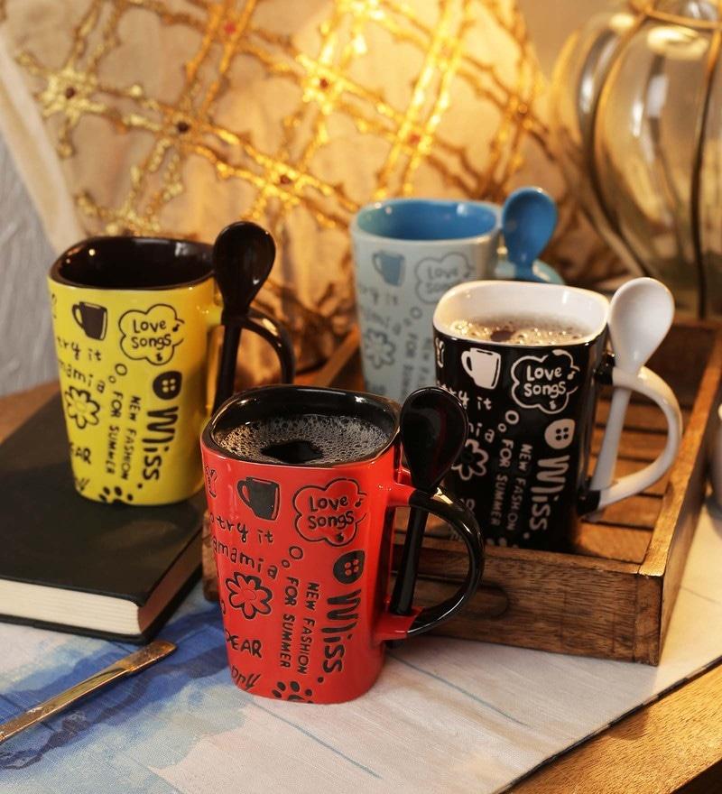 CDI Stoneware Ceramic 250 ML Mugs - Set of 4