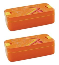 Plastic 713 ML Tiffin Box - Set of 2 ...