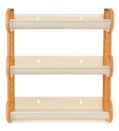 Cello Japan Plastic Storage Shelf, Ivory Yellow