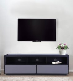 Ceni Entertainment Unit In Dual Tone Finish