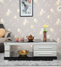 Center Table With Drawers In Black & Grey Finish