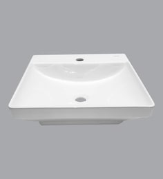 Cera Counter Top Mounting Wash Basin, White