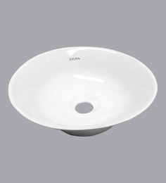 Cera Thin Rim Counter Top Mounting Wash Basin, White - 1721332