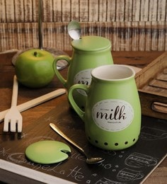 Ceradeco Ceramic 400 ML Milk Mugs - Set Of 6